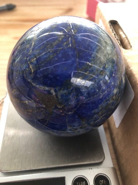 Polished lapis sphere